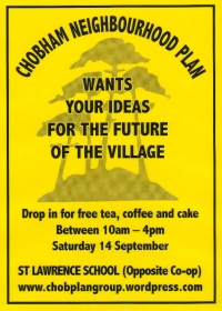 Chobham Neighbourhood Plan Event