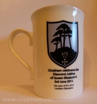Chobham Diamond Jubilee mugs